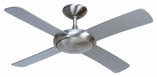 "Fantasia Orion 44"" Brushed Aluminium Ceiling Fan + Remote Control 115298"